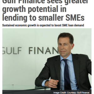 Gulf News – Gulf Finance Sees Greater Growth Potential in Lending To Smaller SMEs